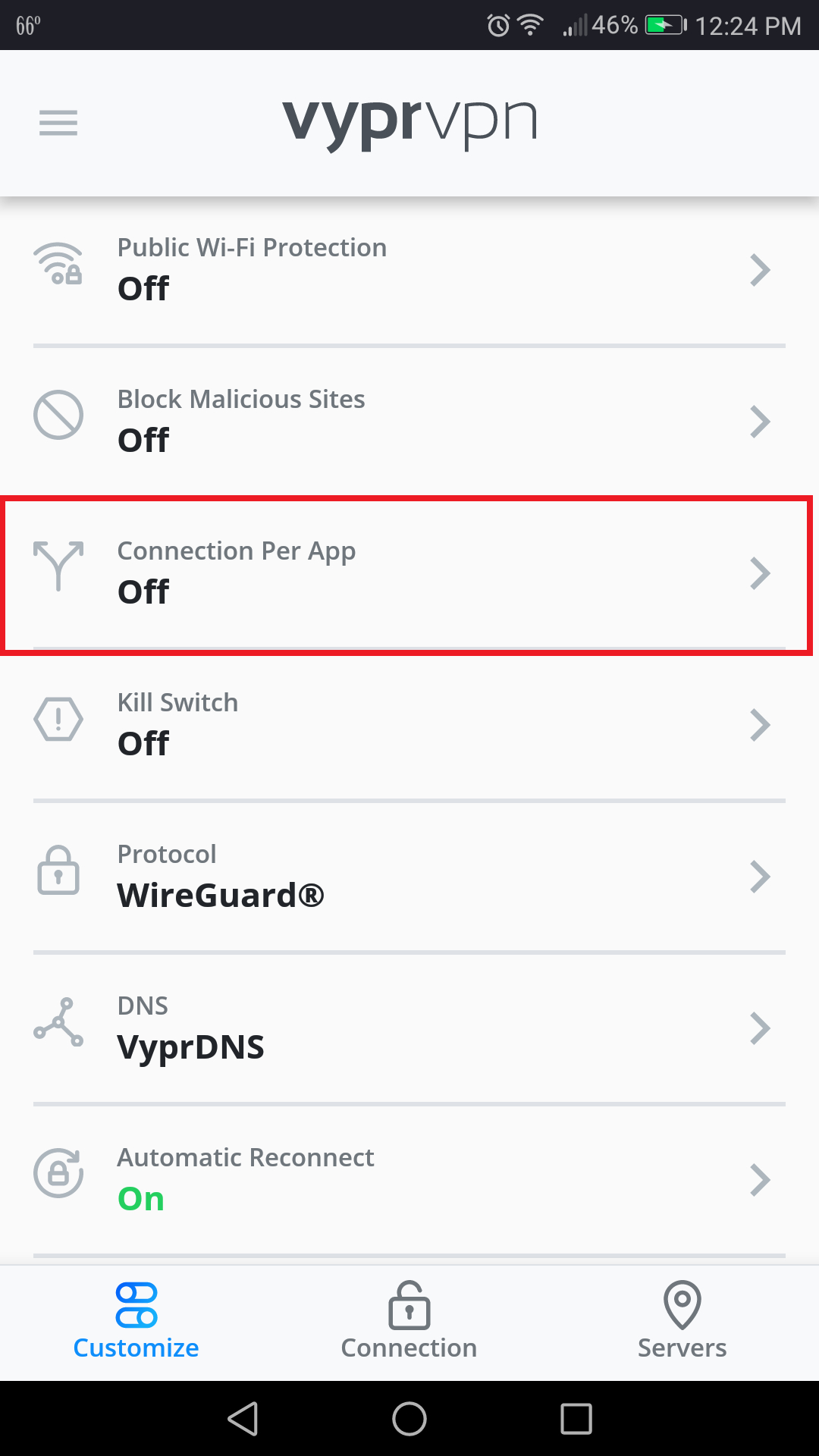 Vypr_App _-_ Customize_Menu _-_ Connection_Per_App_Selected.png